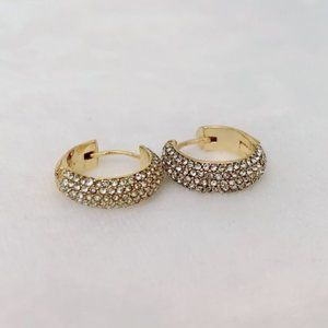 Kate Spade Candy Drops Pavé Huggie Hoop Earrings
